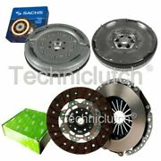 Valeo 2 Part Clutch Kit And Sachs Dmf For Audi A3 Convertible 2.0 Tdi