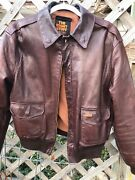 Menand039s Size42 1980s The Right Stuff Leather Jacket For Ac Delco Avirex Limited Us