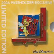 Disney Wdw Passholder 2006 Puzzle Tinker Bell Magic Kingdom Spinner Le 7000 Pin