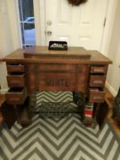 Antique White Sewing Machine Has Manual And Extra Parts 599.00