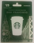 2014 Starbucks Destinationssan Francisco Hanger And Gift Card Brand New/no Value