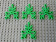 4 X Feuille Lego Btgreen Plant Leave For Tree 2417 / Set 4208 79003 60097 7625..