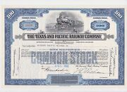 [make Offer] Texas And Pacific Railway Common Stock Certificate