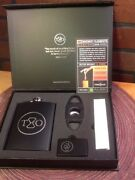 Flask Cigar Cutter Light-time And Oak Whiskey Elements Collectors Box Never Used