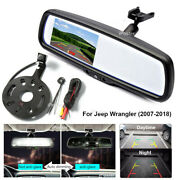 4.3 Mirror Monitor+spare Tire Mount And Backup Rear View Camera For Jeep Wrangler