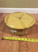 Vintage Tupperware Rotating Turn Table Relish Tray Condiment Vegetable Candy