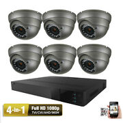 Amview 8ch Hdtvi Dvr 1080p Sony Cmos 4-in-1 Ahd 2.6mp Security Camera System 45g