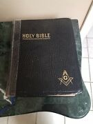 1960s Red Letter Masonic Edition Cyclopedic Indexed Masonand039s Holy Bible