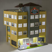 Menards Couty Suites Inn Hotel Train Layout Building Lighted Led O Gauge