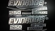 Evinrude Boats Emblem 250 Chrom + Free Fast Delivery Dhl Express