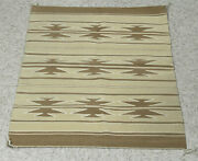 Navajo Natural Banded Chinle Rug C.1970s 36 X 26 Tight + Fine Weave Mint Cond