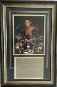 Muhammad Ali - Legendary World Champion - Unique Awesome Signed And Framed Display