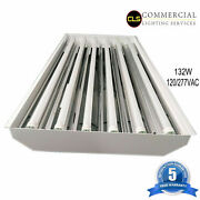 T8 Led High Bay Warehouse Shop Commercial Light 6 Lamp Fixture Usa Made Bright