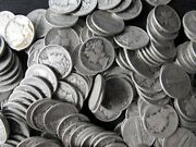 Lot Of 100 Collectible Mercury Silver Dimes 10 Face Value 90 Us Coin