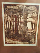 Susan Hunt-wulkowicz Sepia Etching Artist Proof Signed One Of A Kind Rare