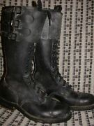 Vtg Wwii 40 50s Mens 7 Nos Tall Motorcycle Buckle British Military Army Boots
