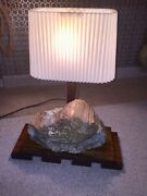 Antique 200million Yr Old Wood And 200 Yr Old Wood Mission Oak Table Lamp