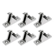 6x Stainless Bimini Boat Top Deck Hinge Fitting And Screws Quick Release