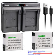 Kastar Battery Dual Charger For Dmw-bcm13 Dmw-bcm13e And Panasonic Lumix Dmc-zs30s