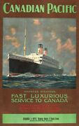 Wall Decoration 1920 Canadian Pacific Empress Steamers Travel Ad Posters