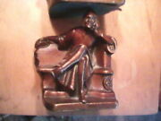 Antique Bronze Clad K And O Dante Alighieri Bookends Kronheim And Oldenbush 1930and039s