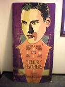 Rare Art Deco Hollywood Silent Film Double-sided Movie Poster Feather Selznick