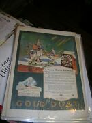 1924 Gold Dust Twins Ad Washing Powder With Goldie And Dustie Great Color