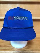 Winchester And Western Railroad Vintage Trucker Cap Hat Snap Back