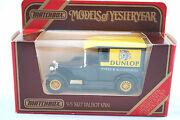 Matchbox Of Yesteryear Noy-5 1927 Talbot Van In Dunlop Tyres And Accessories Mib