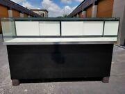 Huge Glass Display Cases 90 X 30 Or 60 X 30 W/ Back Storage Shelves