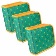 Setof3 Lenticular Cd Case Wallet Color-changing Butterfly Green Cd24-r-019g-s3