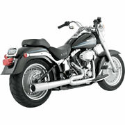 Vance And Hines Chrome Pro Pipe Exhaust 1986-2011 Harley Softail Fxs/fxst/flst