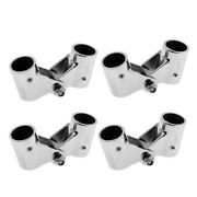4pcs 22mm Boat Hand Rail Fittings Swivel Tube Pipe Connector Stainless Steel