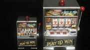 Real Mini Slot Machine Las Vegas Casino Coin Bank With Lights And Fast Rotating