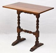 Wallace Nutting Trestle Table Williamsburg Style William And Mary Style