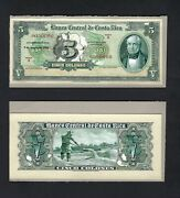 Costa Rica Face And Back 5 Colones 9-5-1956 P. Unlisted Essay Proof Uncirculated