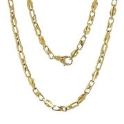 14k Yellow Gold Handmade Fashion Link Necklace 20 5.25mm 33.5 Grams