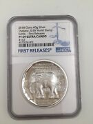 2018 Thailand World Stamp Expo Silver Elephant Medal 60g Ngc Pf69 Fr