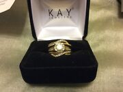 14k Gold Womenandrsquos Wedding Set Sizable 1/5 And 7/8 Tdw Kayandrsquos Warranty Transferable.