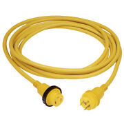 Marinco 199119 30 Amp Powercord Plus Cordset Power-on Led Yellow 50ft