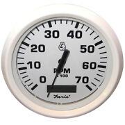 Faria Beede Instruments 33140 Dress White 4 Tachometer Hourmeter 7 000 Rpm Gas