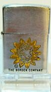 1950and039s Zippo Ad Lighter The Borden Co. And Elsie The Cow / Works Great [1694]