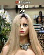 1b/613 Long 20 Inch Blonde Lace Front Wig - Miracle Mink Luxe Beautyhair