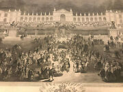 Charles Cochin 37x22 Versailles Party French Etching