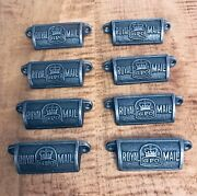 Set Of 8 Royal Mail Cast Iron Cup Pulls/handles