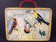 1970and039s Brazilian Birds And Butterflies Vintage Metal Lunch Box From Brazil Rare