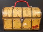 1970and039s Brazilian Treasure Chest Vintage Metal Lunch Box From Brazil Rare