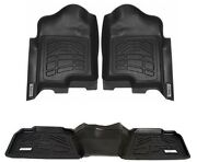 Combo Floor Mats 1st And 2nd Row Gmc Sierra 1500 Double Cab 2014 - 2018 - Black