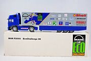 150 Conrad Collectible Man Truck And Trailer M.a.n. F2000 Promotion Logo Mib