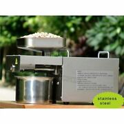 Hot Cold Automatic Oil Press Machine Nut Seed Oil Presser Brand New For Home Vu